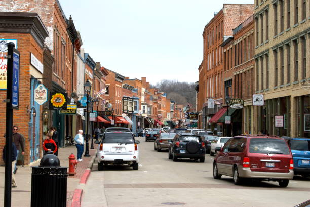 Galena in Illinois stock photo