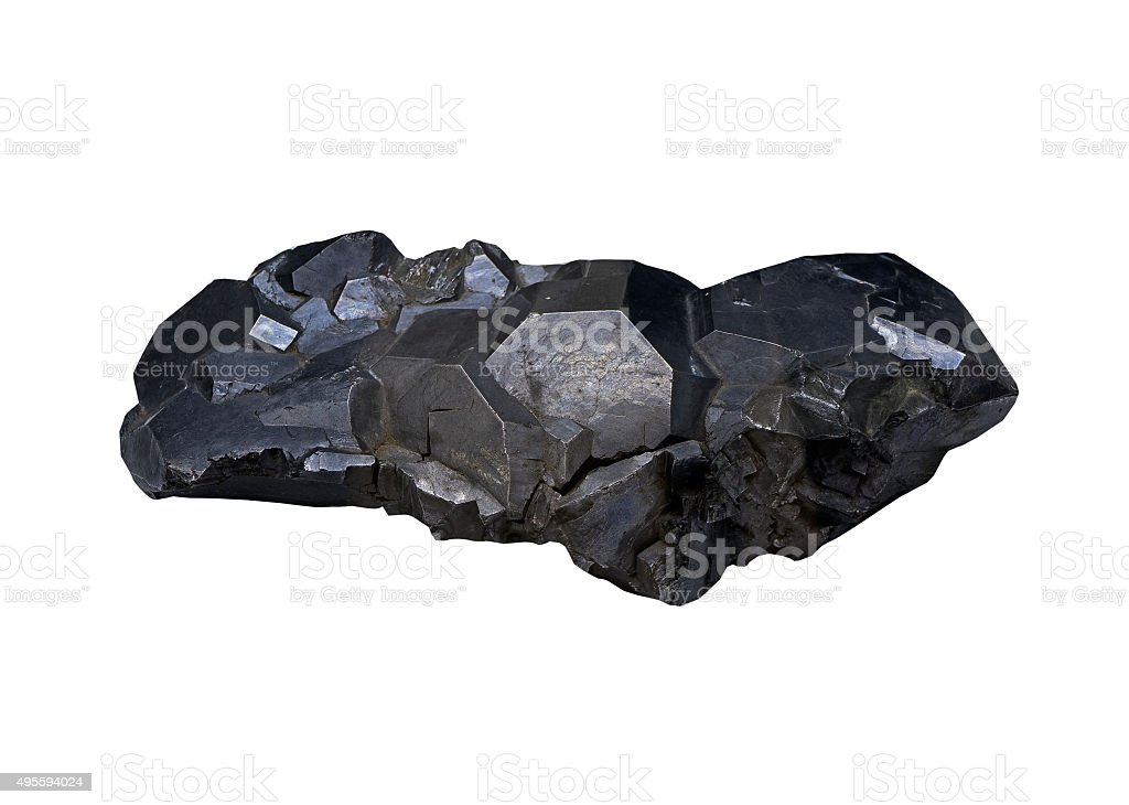 Galena,  ore of lead on white background isolated stock photo