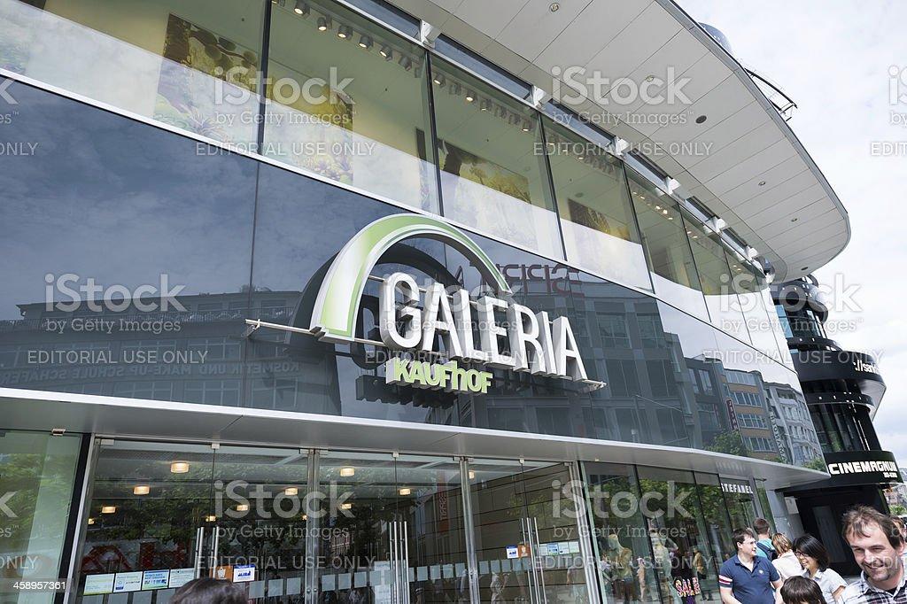 Galeria Kaufhof department store in Frankfurt, Germany royalty-free stock photo