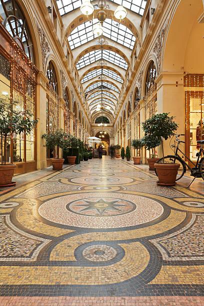 Galerie Vivienne - Paris stock photo