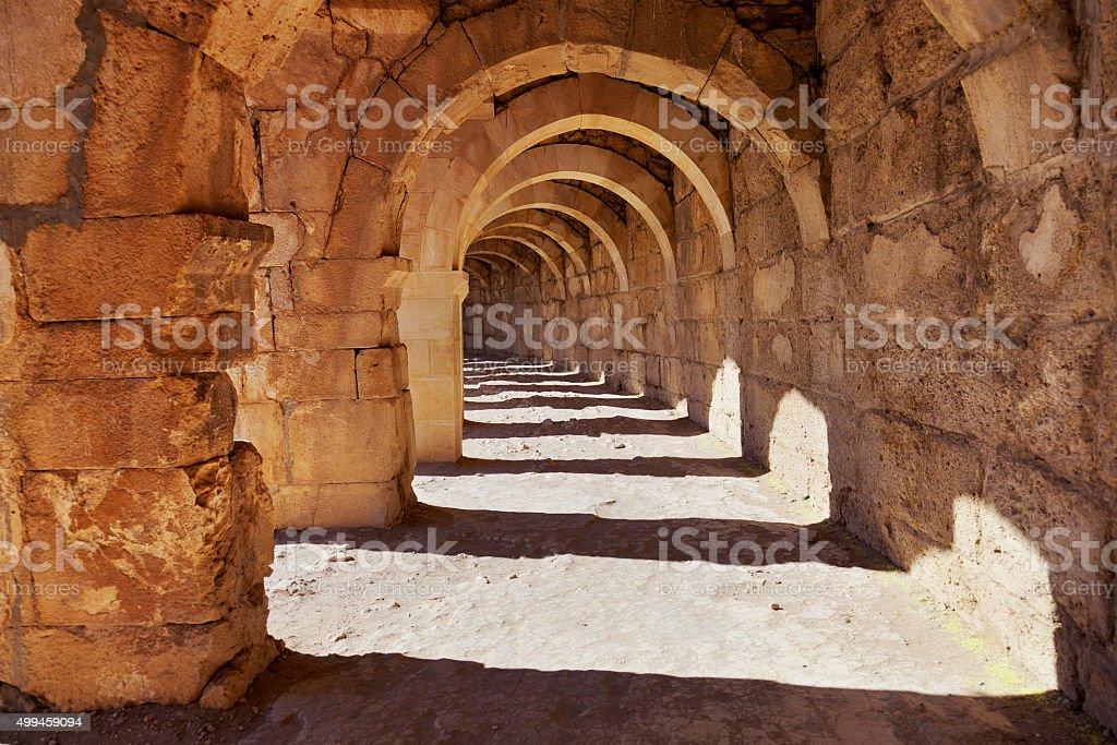 Galery at Aspendos in Antalya, Turkey stok fotoğrafı