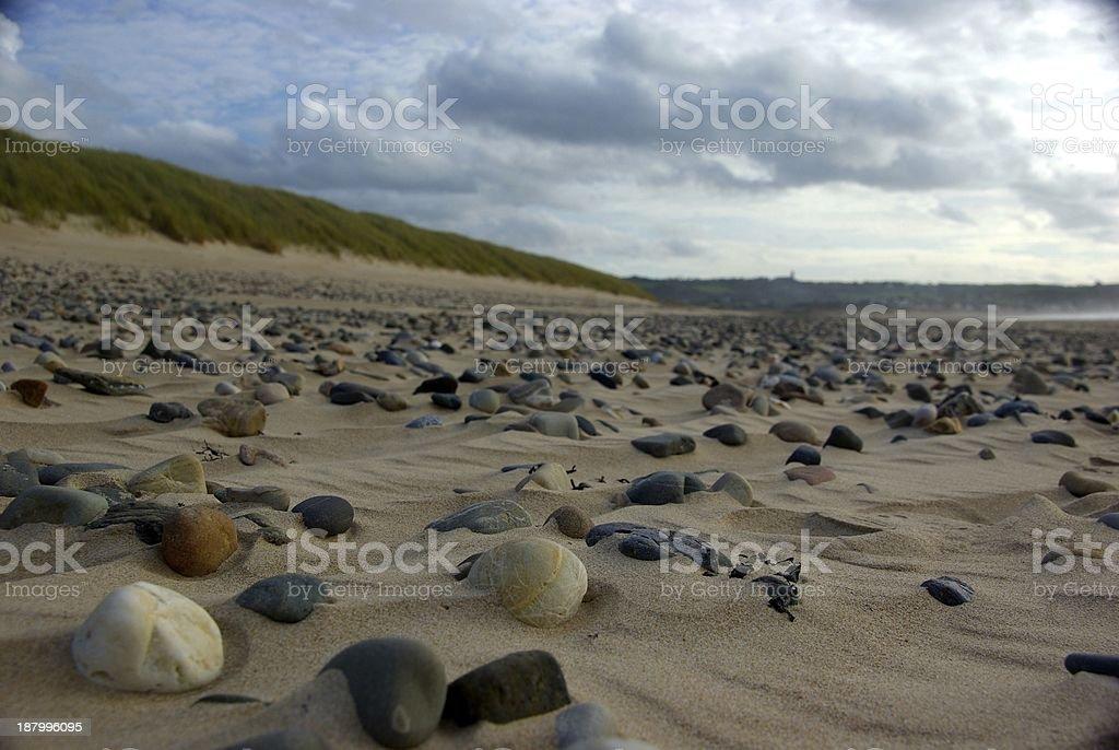 Galet sur la plage royalty-free stock photo