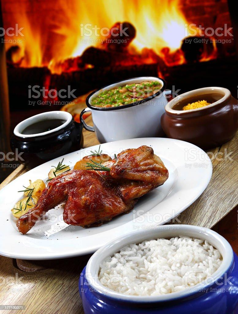 Galeto grill stock photo