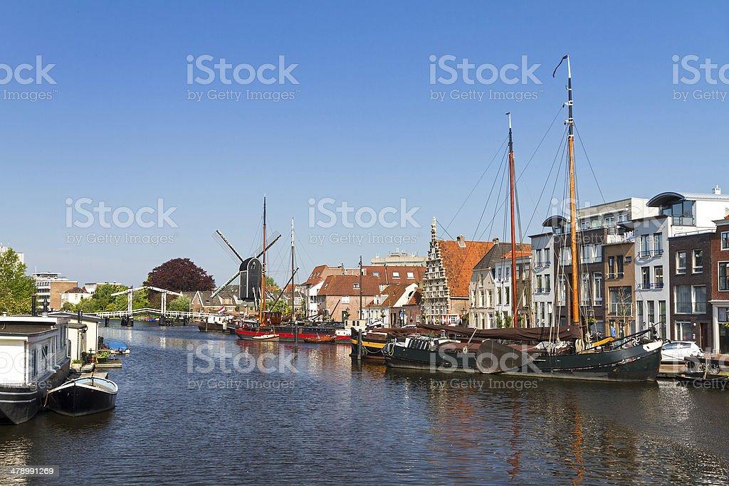 Galgewater Leiden stock photo