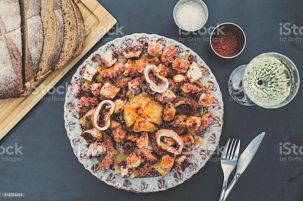 Oktopus, nach galicischer Art – Foto