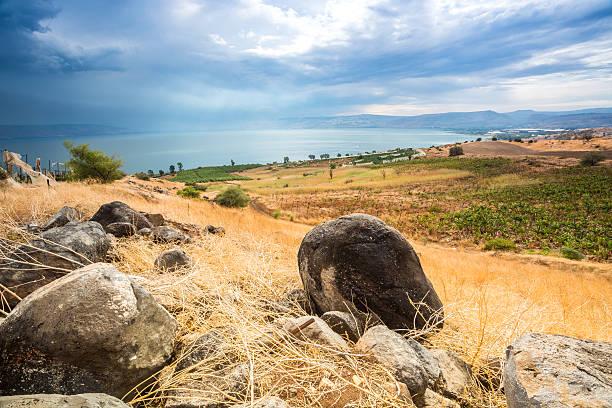 Galiläa panorama aus den Berg der Seligpreisungen – Foto