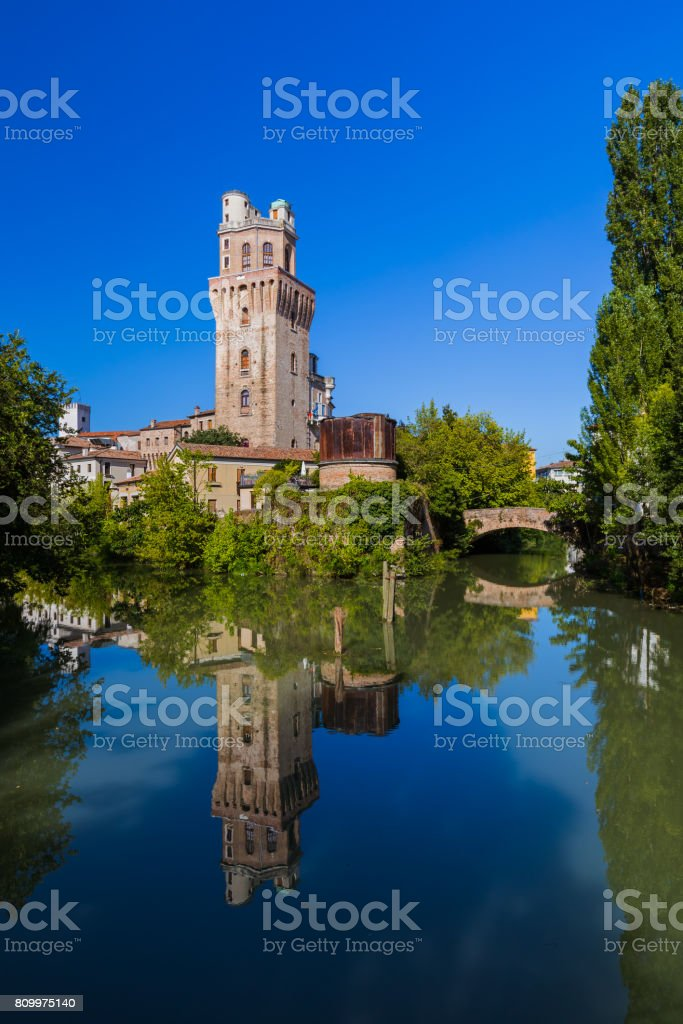 Galileo Astronomical Observatory La Specola Tower in Padova Italy stock photo