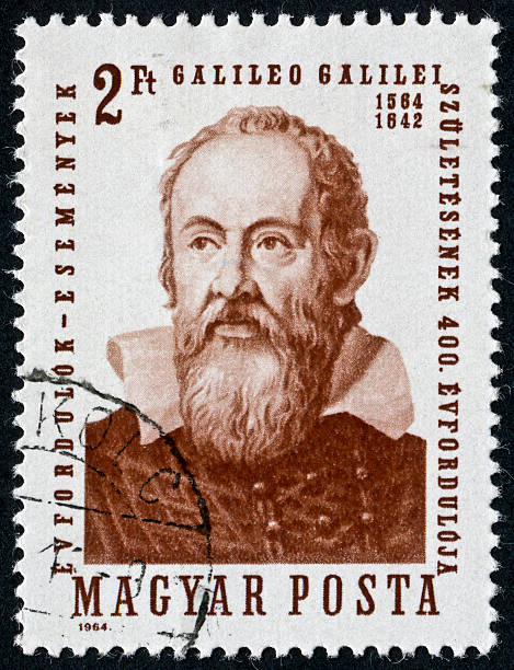 Galileo Galilei Cancelled Stamp From Hungary Featuring The Scientist Galileo Galilei galileo galilei stock pictures, royalty-free photos & images