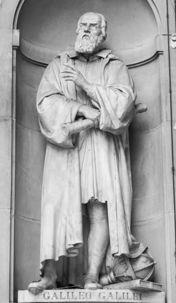 Galileo Galilei Sculpture of Galileo Galilei in Florence. Tuscany, Italy.  galileo galilei stock pictures, royalty-free photos & images