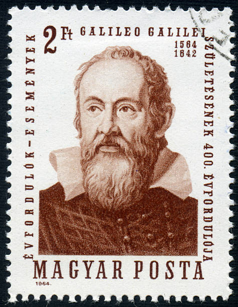 Galileo A 2 Forint Hungarian postage stamp issued in 1964 honoring Galileo Galilei. galileo galilei stock pictures, royalty-free photos & images