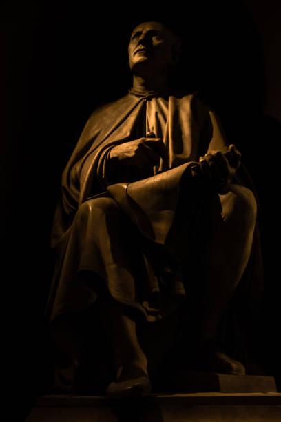 Galileo Statue in Loggia dei Lanzi stock photo