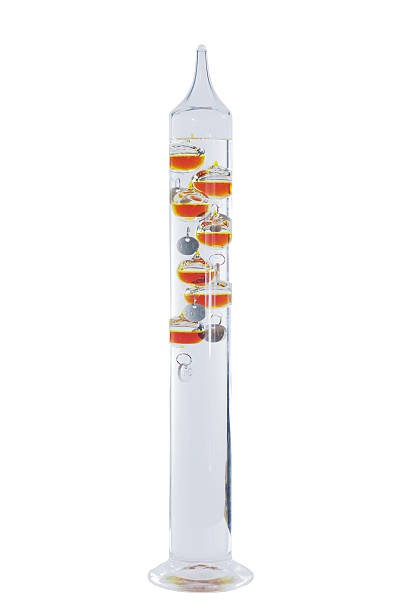 galileo thermometer glass galileo thermometer on a white background galileo galilei stock pictures, royalty-free photos & images