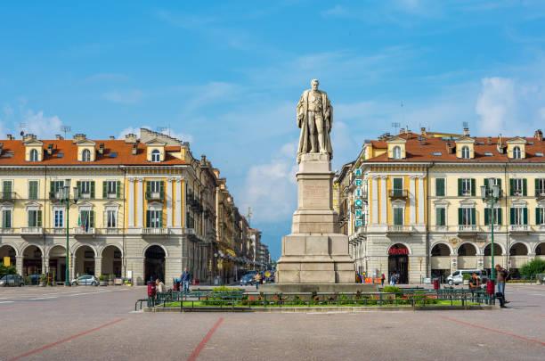 Galimberti Square. Cuneo, Piedmont, Italy stock photo