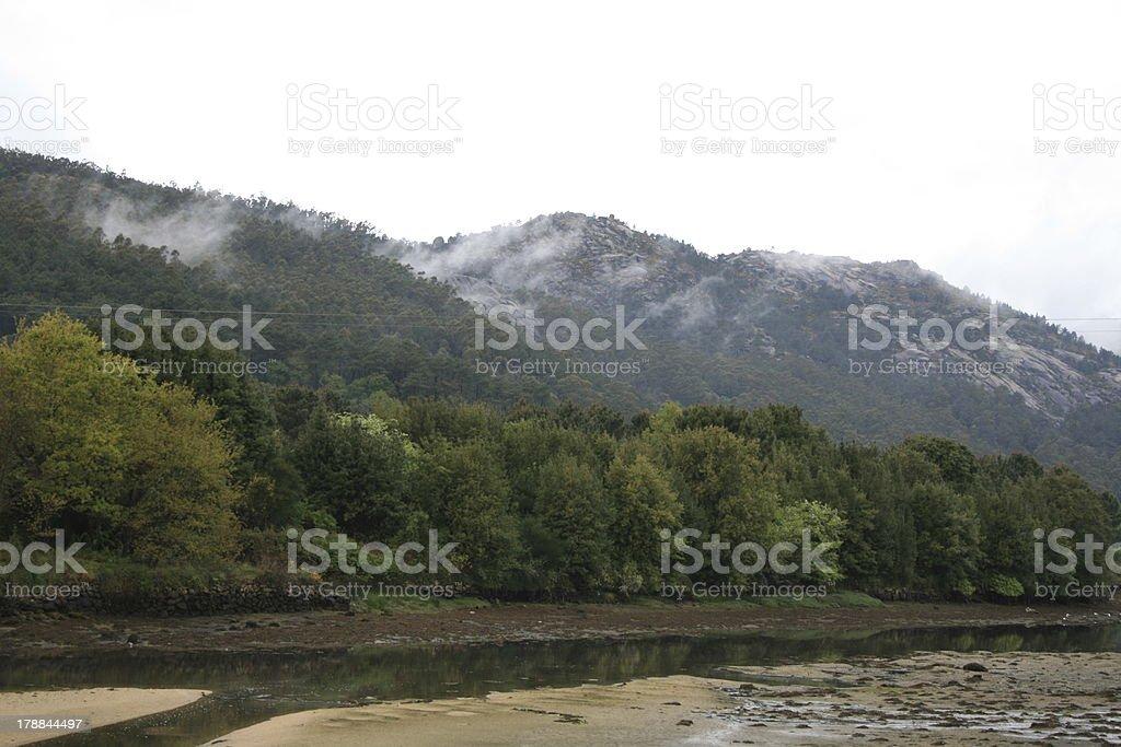 Galizien Ría am Jakobsweg royalty-free stock photo