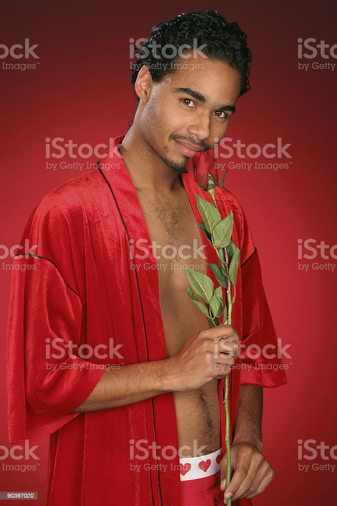 gallant guy in red royalty-free stock photo
