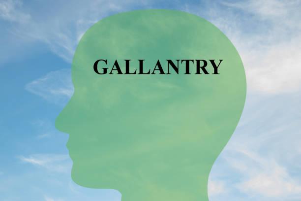 Gallantry mentality concept stock photo