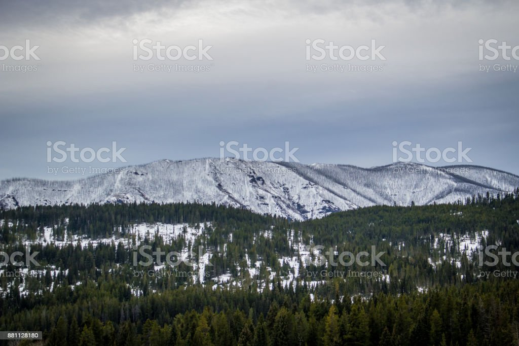 Gallatin Mountains stock photo