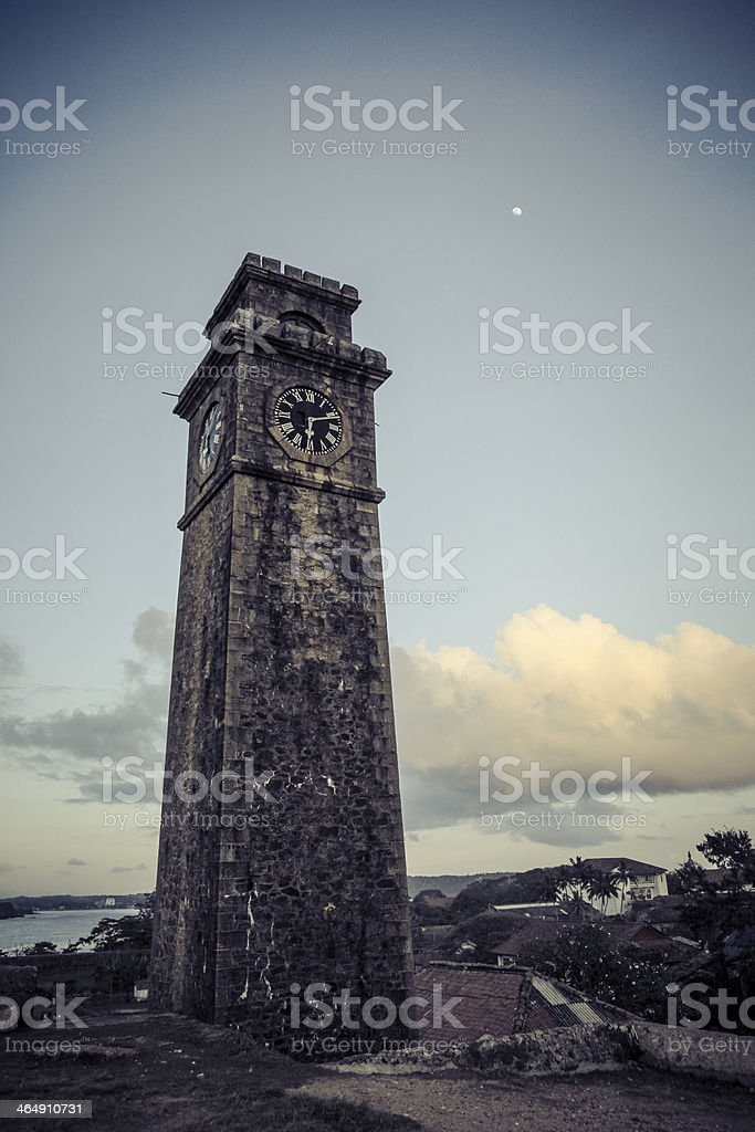 Galle Fort Clock Tower stock photo