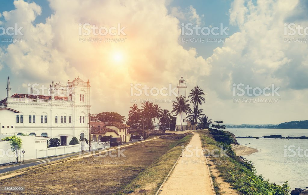 Galle fort in Sri Lanka is a prime Dutch colonial stock photo