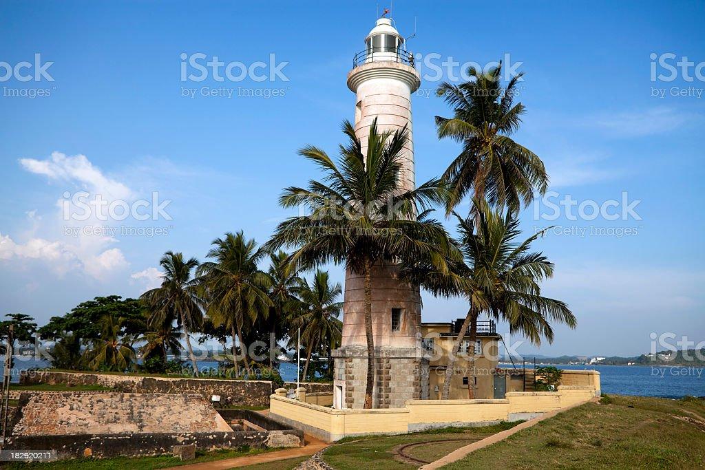 galle fort lighthouse sri lanka stock photo