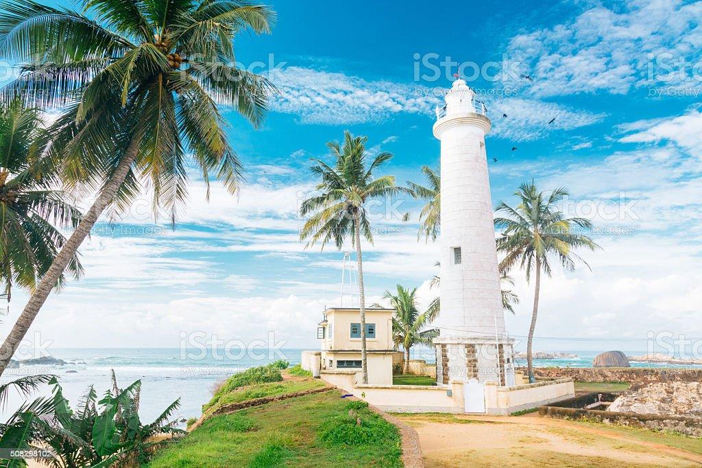 Galle Fort Lighthouse, Sri Lanka stock photo