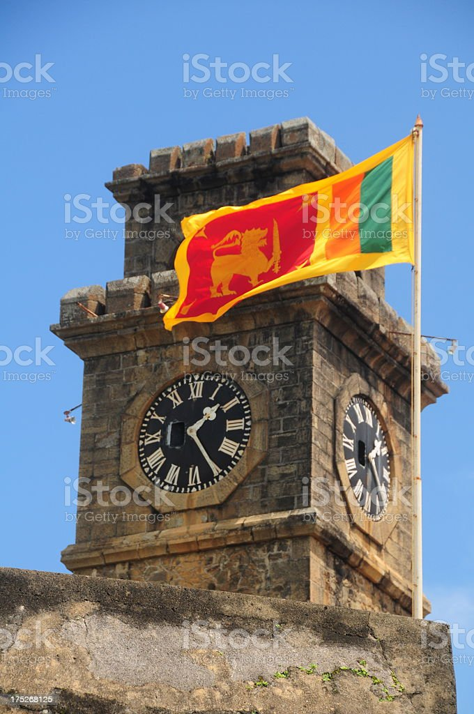 Galle fort, Sri Lanka. royalty-free stock photo
