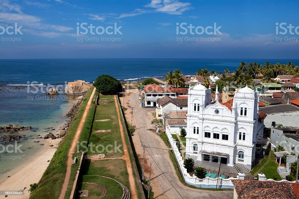galle lighthouse view stock photo