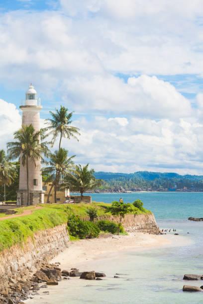 Galle, Sri Lanka - Besuch des Strandes in der Nähe der alte Leuchtturm von Galle – Foto
