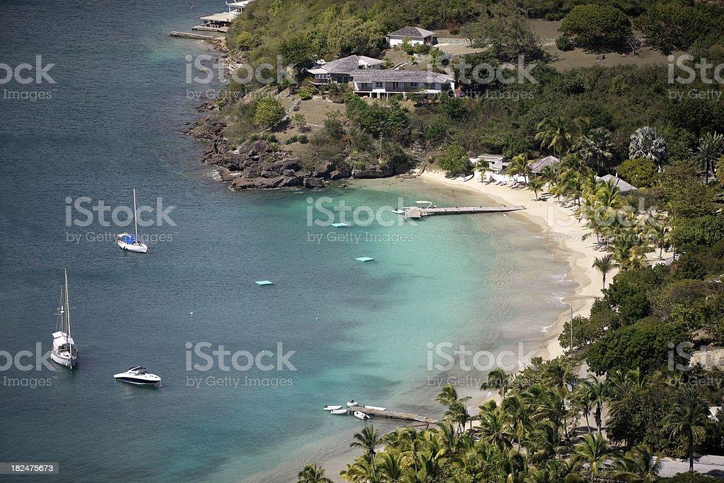 Galleon Beach, Freeman's Bay - Antigua royalty-free stock photo