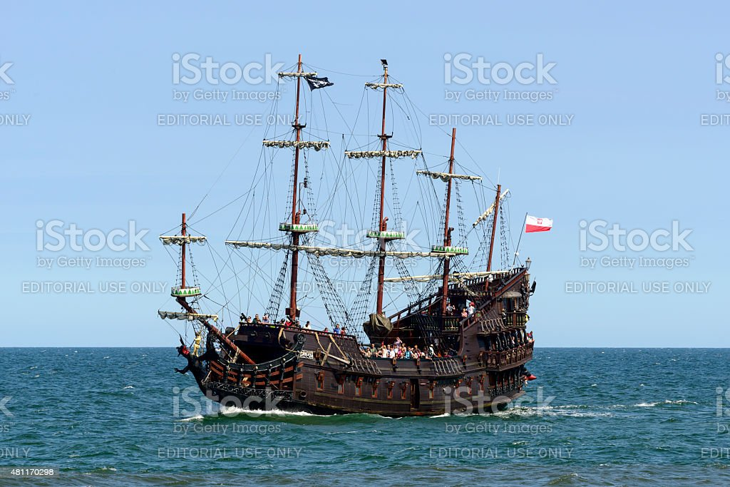 Galleon 'Dragon'. stock photo