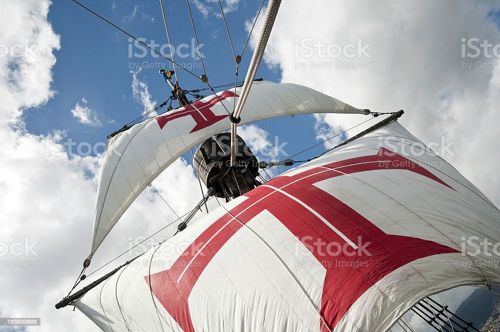 Galleon Sails stock photo