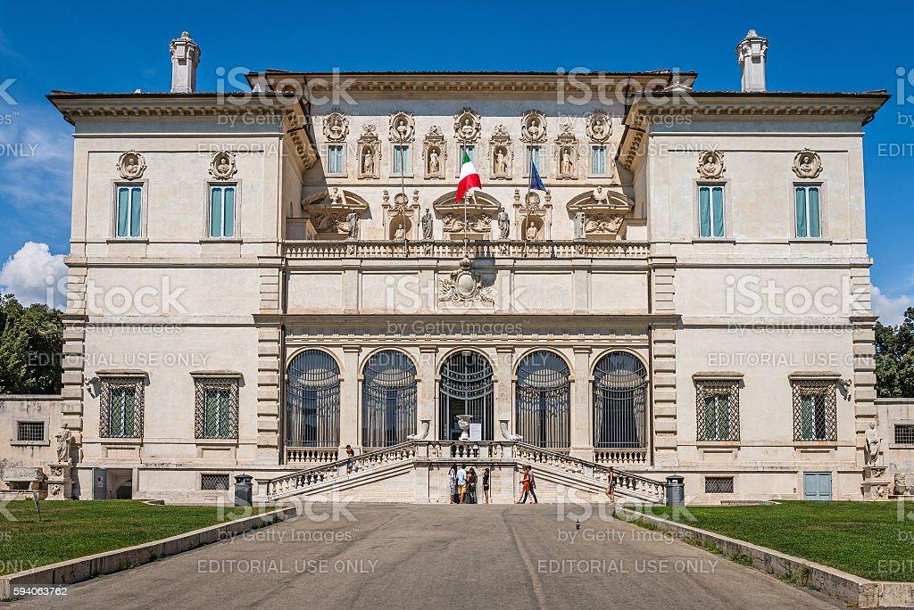 Galleria Borghese facade stock photo