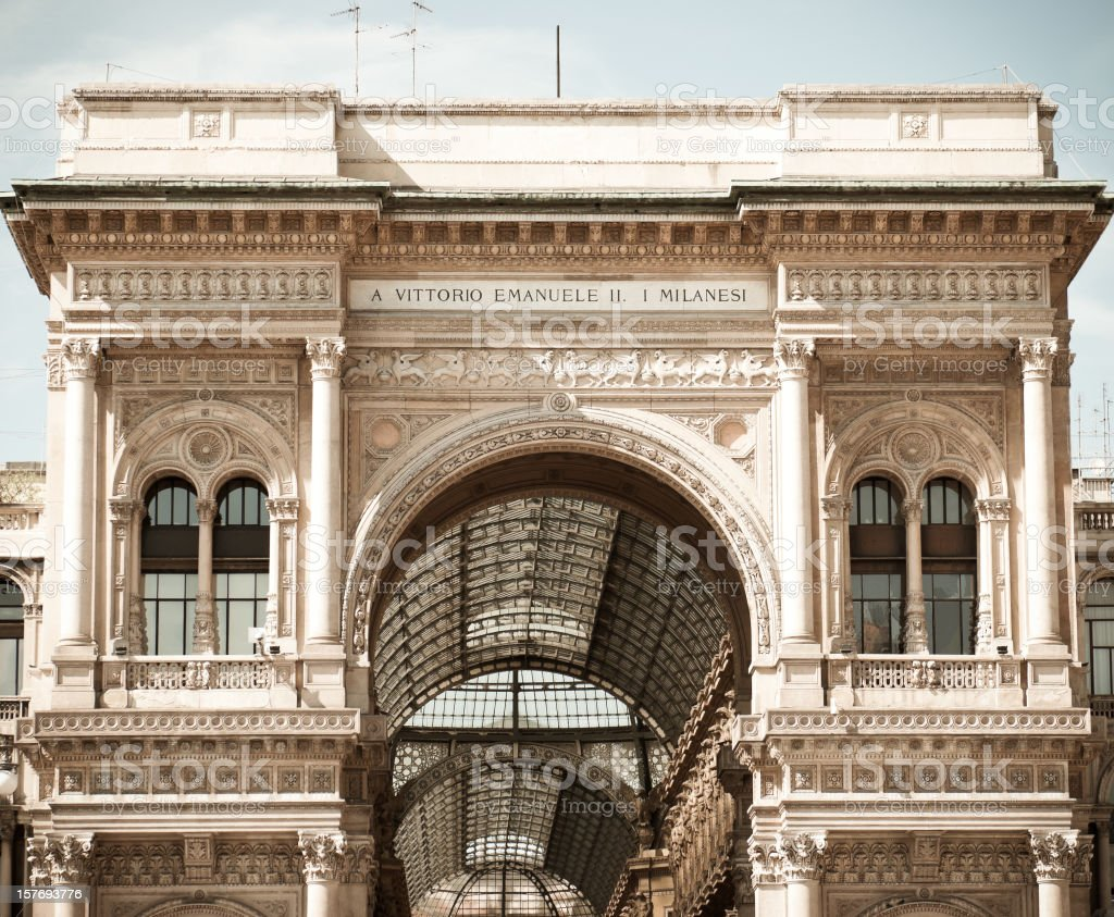 Galleria Vittorio Emanuele II in Milan - Italy royalty-free stock photo
