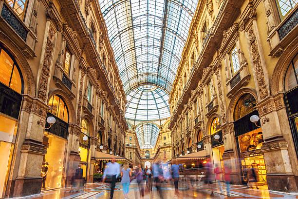 Galleria Vittorio Emanuele II in Milan, Italy stock photo