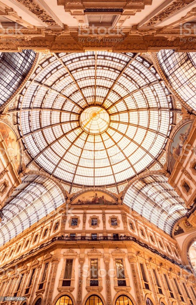 Galleria Vittorio Emanuele II in Mailand stock photo