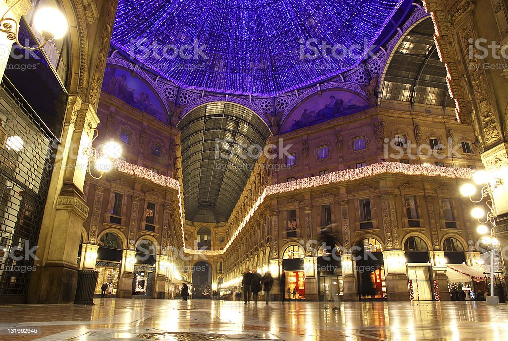 Galleria Vittorio Emanuele II in Milan royalty-free stock photo
