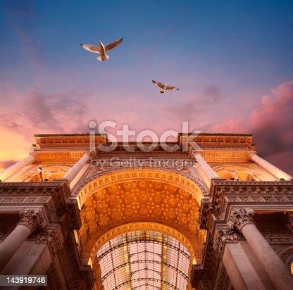 istock Galleria Vittorio Emanuele II in Milan 143919746