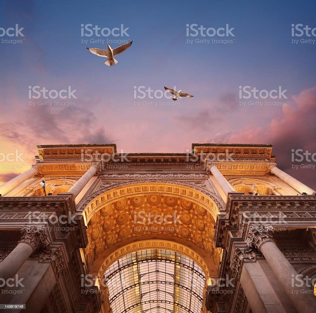 Galleria Vittorio Emanuele II a Milano - foto stock