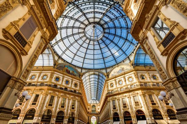 Galleria Vittorio Emanuele II in Milan stock photo