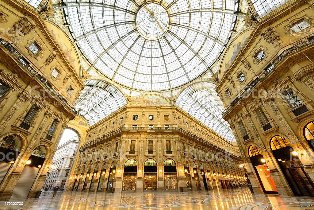 Galleria Vittorio Emanuele II, Milan, Italy stock photo