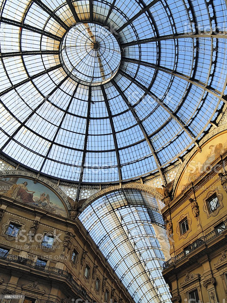 Galleria Vittorio Emanuele II, Milan, Lombardy, Italy royalty-free stock photo