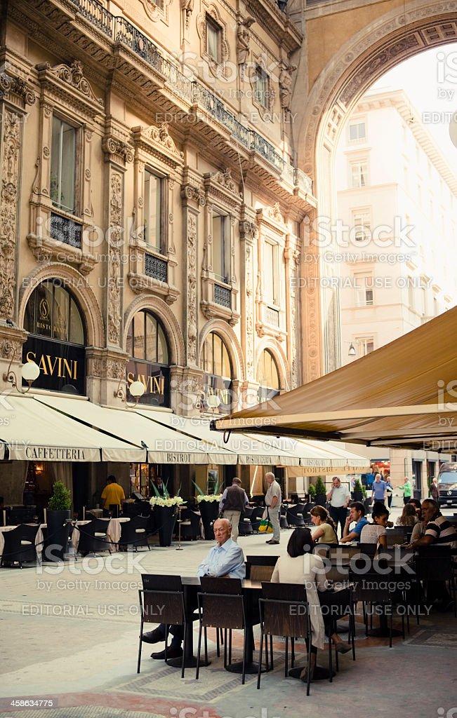 Galleria Vittorio Emanuele II, Milan stock photo