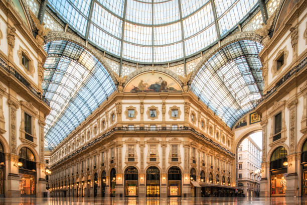galleria vittorio emanuele ii, milan - renaissance stock pictures, royalty-free photos & images