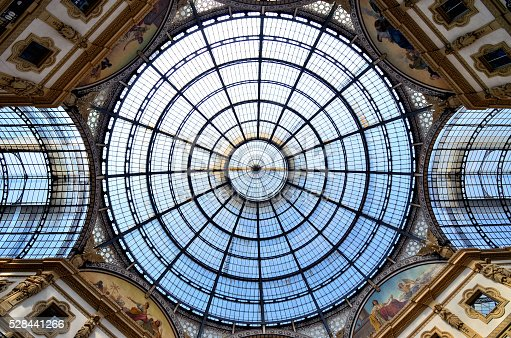 The famous shopping mall of Galleria Vittorio Emanuele II in Milan, Italy