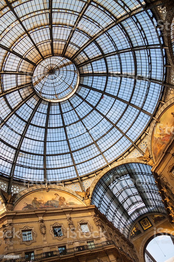 Galleria Vittorio Emanuele II. stock photo