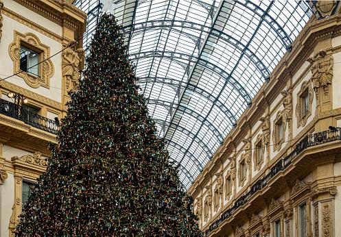 Galleria Vittorio Emanuele II with Christmas tree