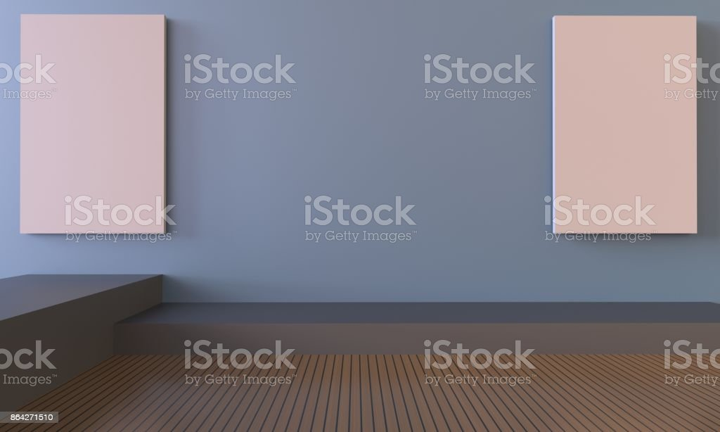 Gallery and living Room Contemporary stock photo