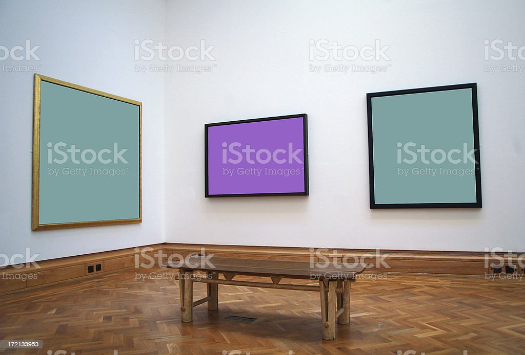 gallery bench royalty-free stock photo