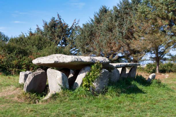 Gallery grave of Île-Grande in Pleumeur-Bodou stock photo