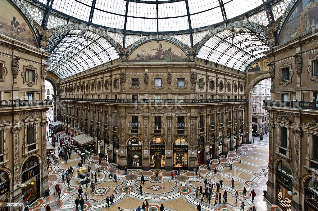 Gallery in Milan royalty-free stock photo